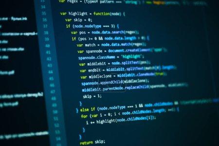 Photo pour Fond de code programmation logiciel ordinateur - image libre de droit