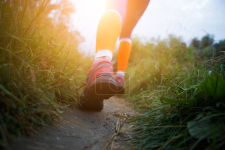 Photo of sportswoman in forest