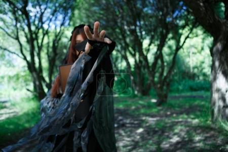 Fantasy picture of black witch