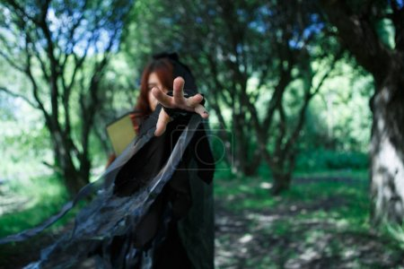 Fantasy photo of young witch