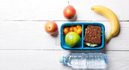 Picture of sporting healthy snack in lunchbox
