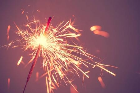 Photo for Hot bengal fire on black background empty - Royalty Free Image