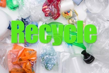 Picture of PET bottles recycle