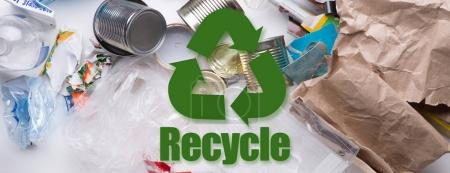 Picture of various debris recycle