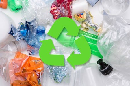 Photo for Picture of PET bottles recycle on white background - Royalty Free Image