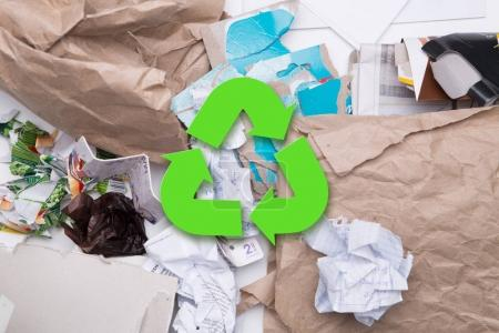 Picture of waste paper recycle