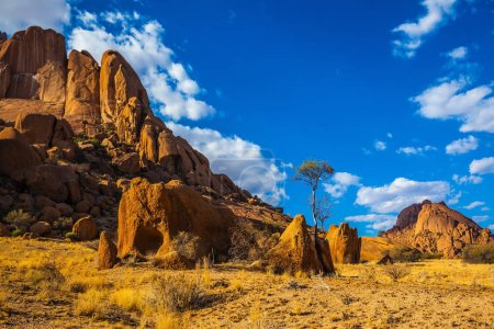 Nature reserve Spitzkoppe in Namibia