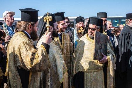 Orthodox priests involving on worship