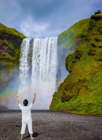 Magnificent famous waterfall Iceland