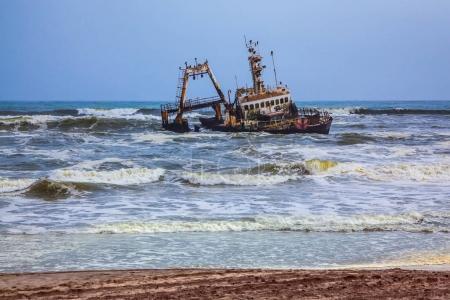 Ship stranded many years ago