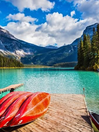 Emerald Lake in Canadian Rockies