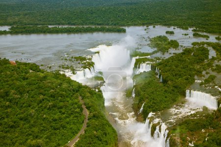 Iguazu River among forests
