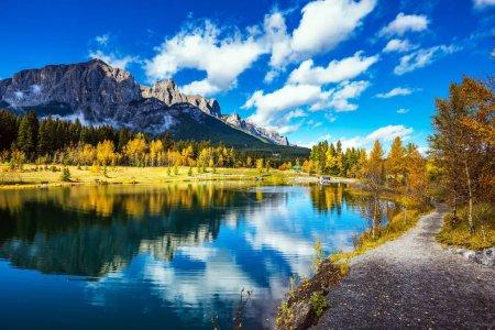 """Photo pour Le Canada. Turquoise Lake Peyto dans le parc national Banff. Mountain Lake comme une """"tête de renard"""" est populaire parmi les touristes - image libre de droit"""