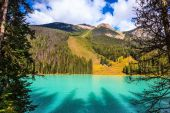 Magic Emerald Lake in the Canadian Rockies