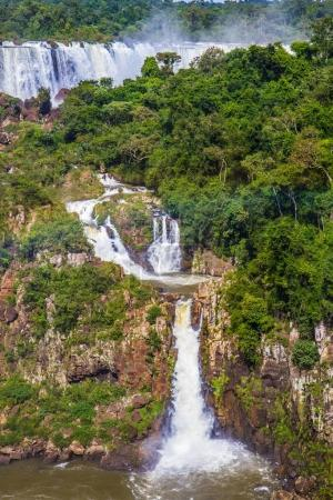Multistage system of waterfalls