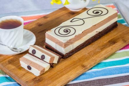 Three layer chocolate cake
