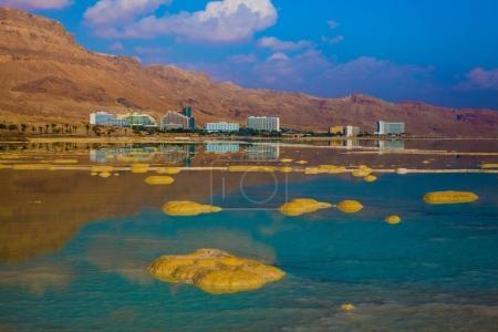 summer sunset on Dead Sea