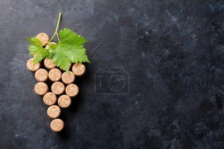 Wine corks grape shape