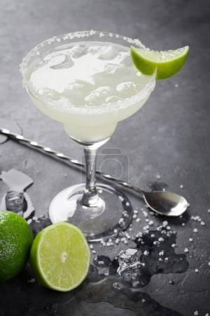 Margarita cocktail on table