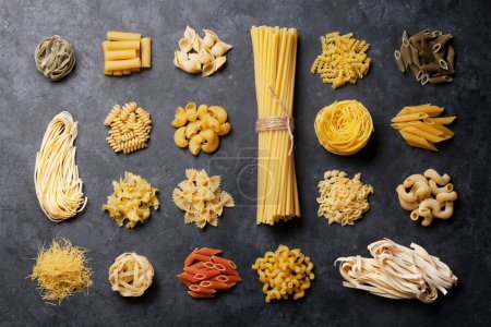 Photo for Various pasta. Cooking concept. Top view - Royalty Free Image