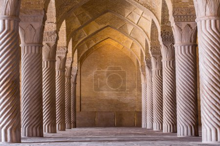 Beautiful columns in Vakil Mosque