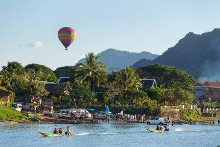 tourists riding speedboats