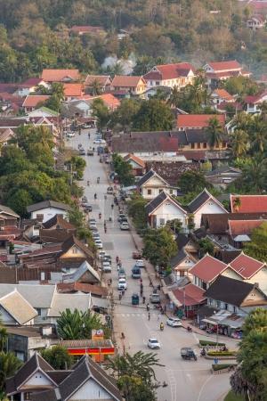 Luang Prabang during sunset