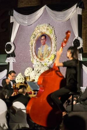 Thai people pay respect in memory of His Majesty the King of Thailand