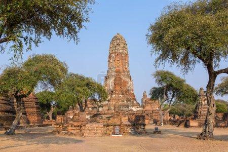 Photo pour Temple Wat Phra Ram dans le parc historique d'Ayuthaya, un site du patrimoine mondial de l'UNESCO en Thaïlande - image libre de droit
