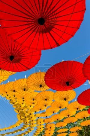 Colorful Thai traditional handmade umbrellas