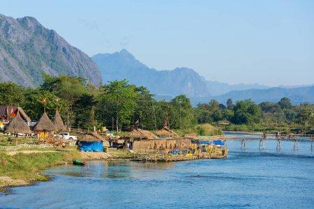 Vang Vieng village view