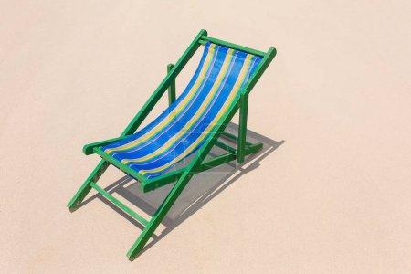 Beach chair on the white sand beach