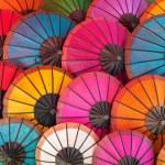Colorful Thai traditional handmade umbrellas backg...