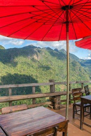 Beautiful outdoor cafe