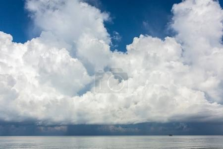 Storm clouds over the sea in Thailand