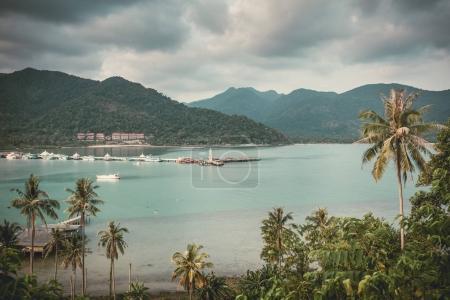 Bang Bao bay view on Koh Chang island