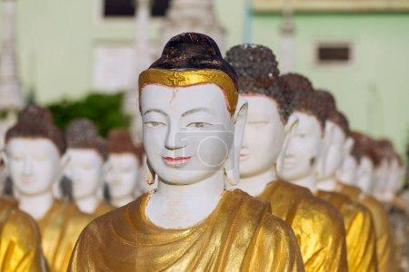 Buddha statues at the Maha Bodhi Tataung