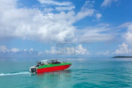 Speed boat on Koh Chang island in Thailand