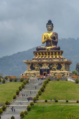 Gautama Buddha statue in the Buddha Park of Ravangla in South Sikkim, India