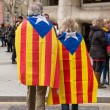 Barcelona, Spain - March 25, 2018: Catalan people ...