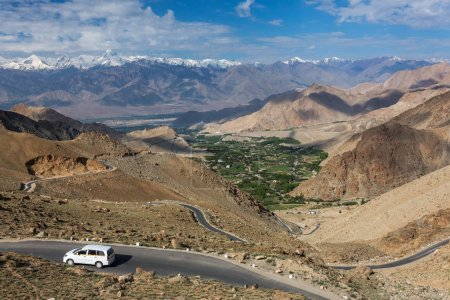 Khardung la Pass on the way between Leh and Nubra valley in Ladakh, India