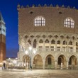 Night panorama of San Marco square with Doge Palac...
