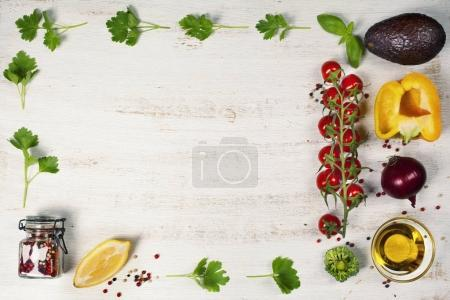 Photo for Food. Food background. Food health. Food eat. Food vegan. Food diet. Food concept. Food dinner. Food lunch. Food meal. Food fresh. Food life. Food natural. Food organic. Food clean. Frame, Flat lay, overhead - Royalty Free Image