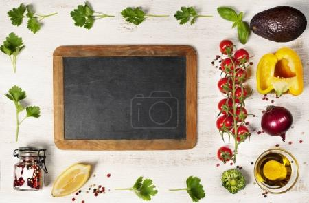 Photo for Food. Food background. Food health. Food eat. Food vegan. Food diet. Food concept. Food dinner. Food lunch. Food meal. Food fresh. Food life. Food natural. Food organic. Food clean. Frame, Flat lay, overhead - Royalty Free Image