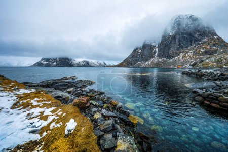 Lofoten islands. Beautiful Norway spring landscape.