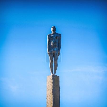REYKJAVIK, ICELAND - AUGUST 29, 2017: Famous old sculpture of Iceland. Reykjavik, Iceland - August 29.