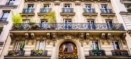Traditional architecture of residential buildings. Paris - France.