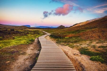 Beautiful scenic landscape of Icelandic nature.