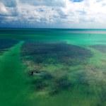 Aerial view of Florida coastline....
