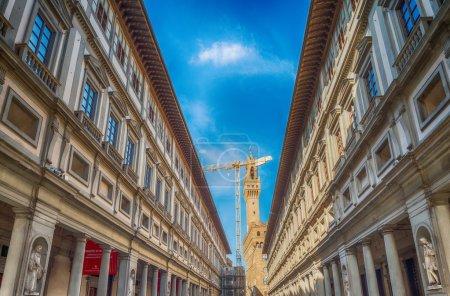 Uffizi Building facade in Florence